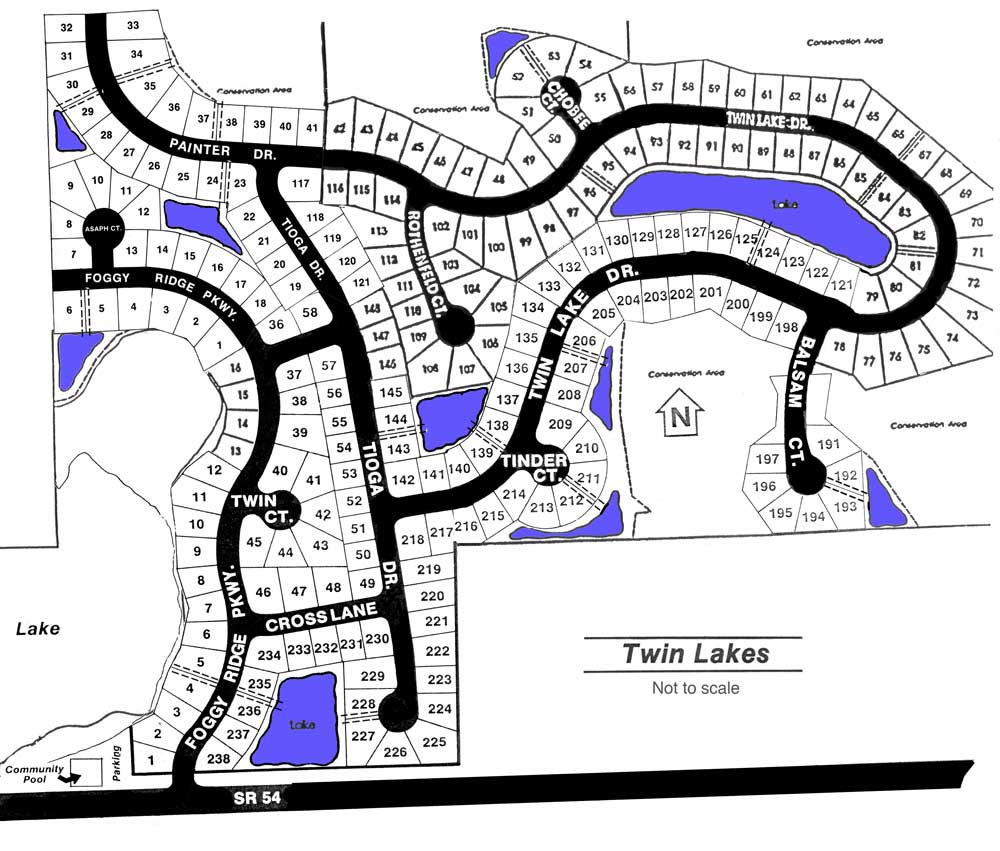 twin lakes florida map